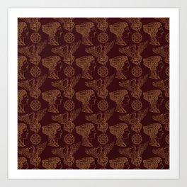 Empire Style Pattern Art Print