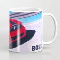 boss Mugs featuring Boss by Brian David