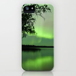 Aurora Borealis Reflection iPhone Case
