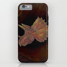 Orange Dinosaur iPhone Case