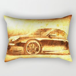 911 classic car. Original golden artwork. Birthday gift for fans Rectangular Pillow