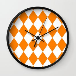 Diamonds (Orange/White) Wall Clock