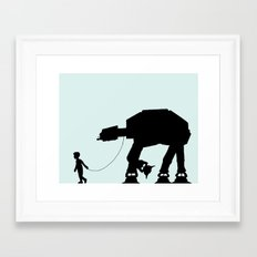 A Boy and His AT-AT Framed Art Print
