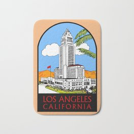 Los Angeles city hall Bath Mat