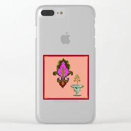 Fleur de Lis Home Decor Clear iPhone Case