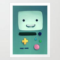 beemo Art Prints featuring Beemo by Alifa Djoyosugito