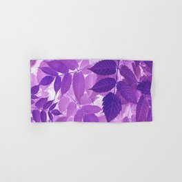 Ultra Violet Purple Leaves Hand & Bath Towel
