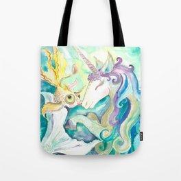 Kelpie unicorn and goldfish Tote Bag