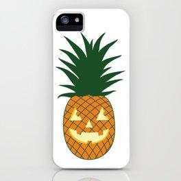 Carved Pineapple Hawaiian Halloween iPhone Case