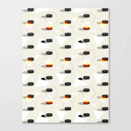 Pucks & Geometries #society6 #hockey #sport Canvas Print