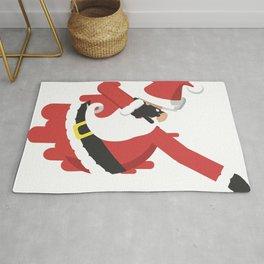 Santa Claus dabbing Rug