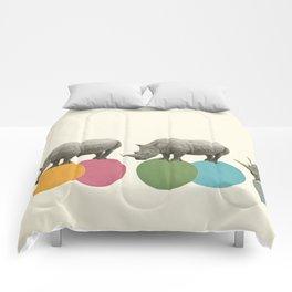 Rambling Rhinos Comforters