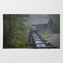 The Old Mingus Mill and Flume in the Great Smoky Mountain National Park in Tennessee Rug