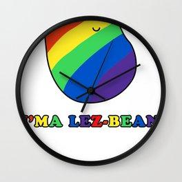 I'ma Lez-bean Wall Clock
