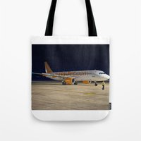 airplane Tote Bags featuring Airplane by cjsphotos