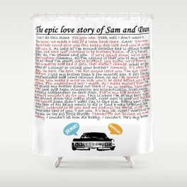 Epic Love Story of Sam and Dean Shower Curtain