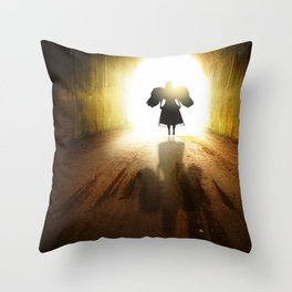 Angel In A Tunnel Of Light Throw Pillow