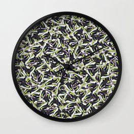 "KB Zoom 5 ""Chaos"" - Collage Print Wall Clock"