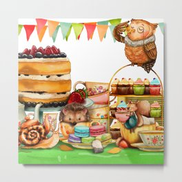 Autumn tea party #2 Metal Print