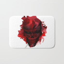 Red Skull Bath Mat