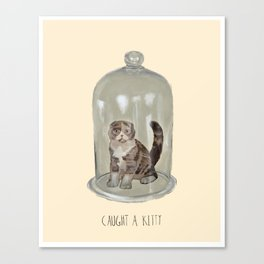 Caught a Kitty Canvas Print