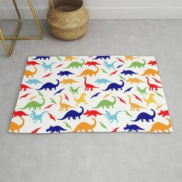 Colorful Dinosaurs Pattern Rug