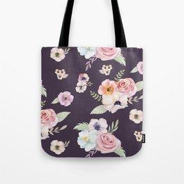Floral I - Eggplant Tote Bag