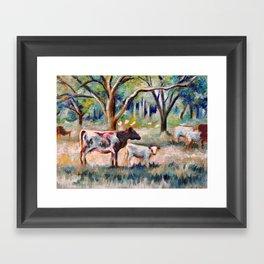 Cows and Trees (*Koinonia*) Framed Art Print