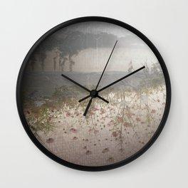 Smoke & Flowers Wall Clock