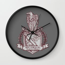 Nolite Te Bastardes Carborundorum_Burgandy Crest Wall Clock