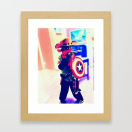 Cowboy America Framed Art Print