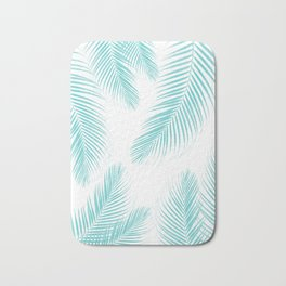 Palm Leaves - Soft Turquoise Cali Vibes #1 #tropical #decor #art #society6 Bath Mat