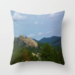 Mountains and Rocks Throw Pillow