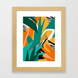 Jungle Abstract Framed Art Print