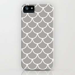 Grey Fish Scales Pattern iPhone Case