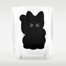Maneki-neko Shower Curtain
