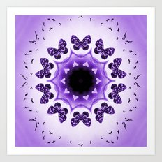 All things with wings (purple) Art Print