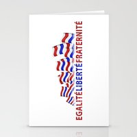 bastille Stationery Cards featuring Bastille Day by DFLC Prints