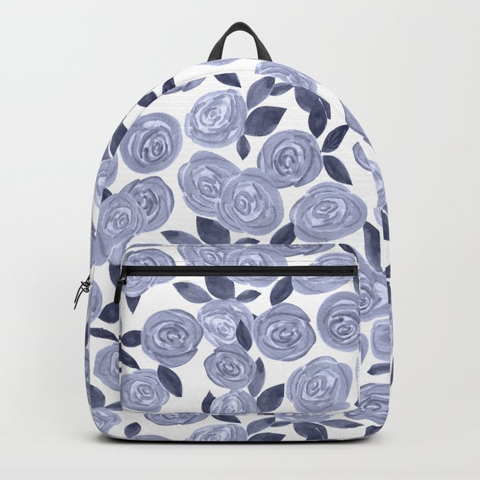 Blue watercolor roses. r2 Backpack