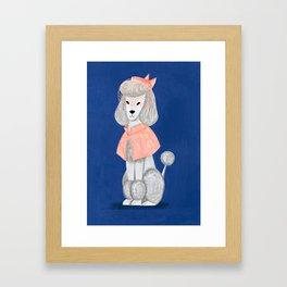 Priscilla the Poodle Framed Art Print