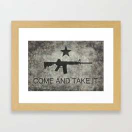 Come and Take it Flag with AR-15 Framed Art Print