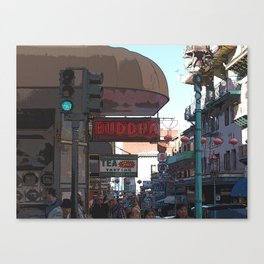 Chinatown Street Corner Canvas Print