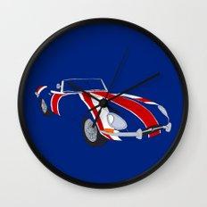 Shaguar (On Blue) Wall Clock