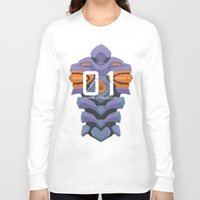evangelion Long Sleeve T-shirts featuring EVANGELION ANIMA UNIT 01 BACK by F4LLEN_LEAF
