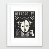 metropolis Framed Art Prints featuring Metropolis by parallelish
