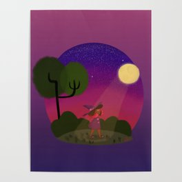 Little Witch Print Poster