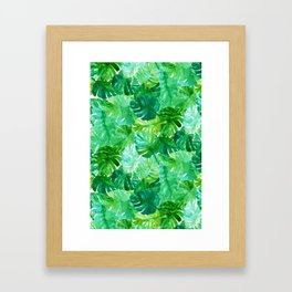 Welcome to the Jungle Palm Framed Art Print