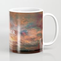 meme Mugs featuring Inspirational Photo Quote Meme by Lewis Wake