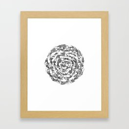 swimming in circles Framed Art Print