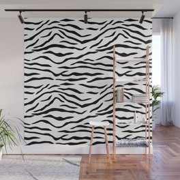 Black and White Tiger Stripes Wall Mural